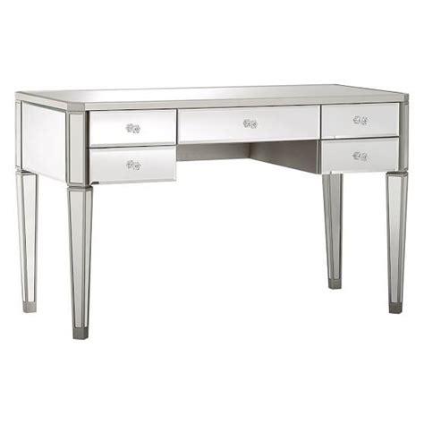 mirrored vanity desk silver zoe desk and vanity hutch