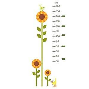 Baby Nursery Wall Stickers sunflower height chart wall sticker by stickerscape farm