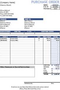 Free Purchase Order Form Template by Purchase Order Template