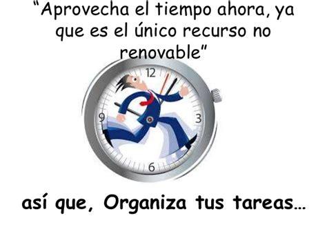 el tiempo the sugerencias para gestionar el tiempo