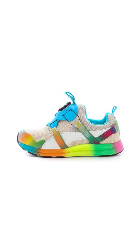 rainbow sneakers x solange of blaze disc rainbow sneakers lyst