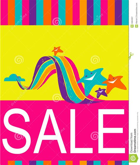 design poster sale design of poster flyer for shopping sale royalty free