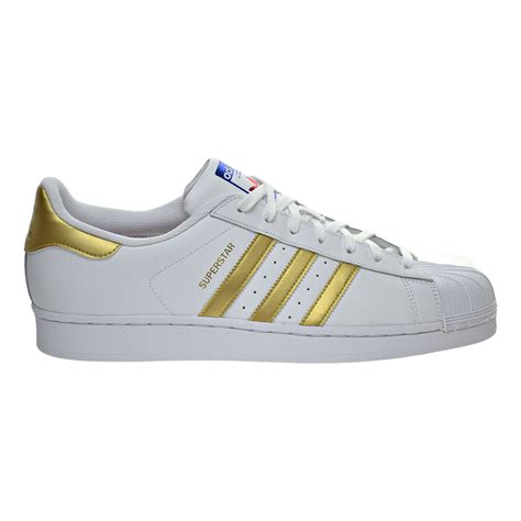 adidas superstar s shoes white metallic gold blue b39399
