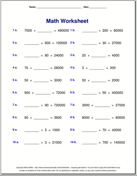 Worksheets For Maths Grade 4 by Multiplication By 4 Worksheets Multiplication Worksheets