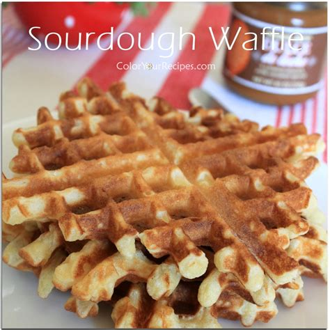 waffles color use your sourdough discard to make waffles color your