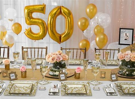 gold anniversary themes 50th anniversary ideas party table decor pinterest