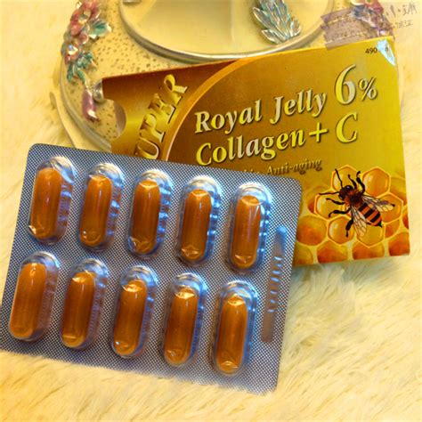 Royal Collagen Cappuccino products and royal jelly on