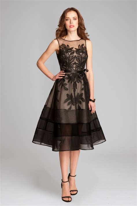 Lace Midi Cocktail Dress embroidered tulle midi cocktail dress teri jon