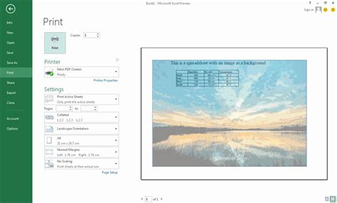 excel background themes use an image as a background in excel