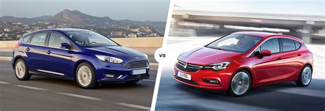 vauxhall ford ford focus vs vauxhall astra comparison carwow
