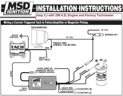 msd 6al box wiring diagram msd distributor wiring diagram fuse box and wiring diagram