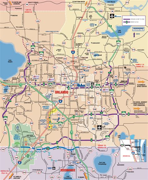 map of orlando fl map orlando my