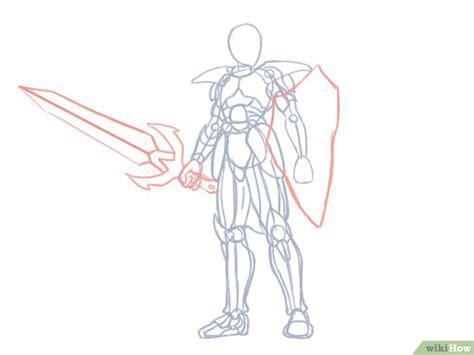 Simple Drawing Menggambar Tubuh cara menggambar ksatria wikihow