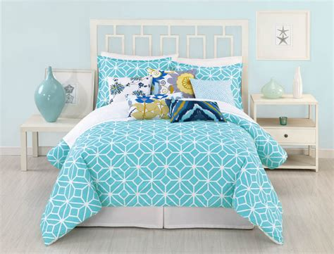 White Floral Duvet Cover Trellis Turquoise By Trina Turk Bedding