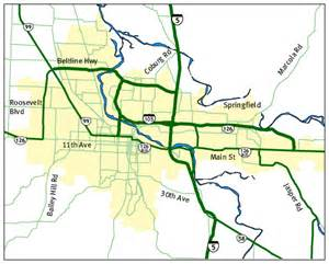 map of eugene oregon eugene oregon road and traffic cams