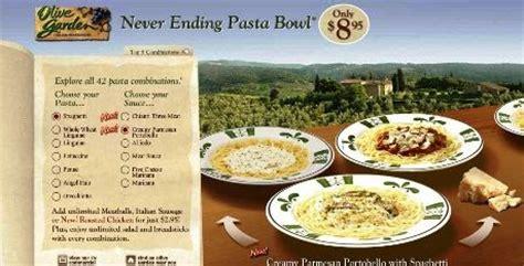 www neverendingpastabowl olive garden restaurant