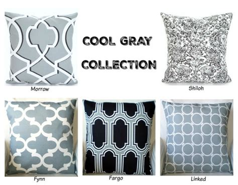Cool Pillow Covers by Cool Gray Decorative Throw Pillow Covers By