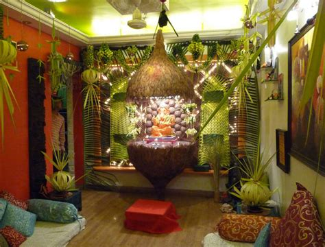 decorations in homes creative ganpati decoration ideas for home the royale