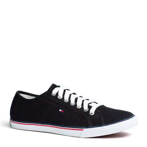 hilfiger sneakers mens hilfiger vantage sneaker in black for lyst