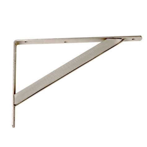 everbilt 11 25 in x 1 05 in brushed nickel shelf bracket