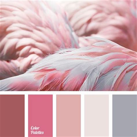 pink brown paint palettes and flamingo color on