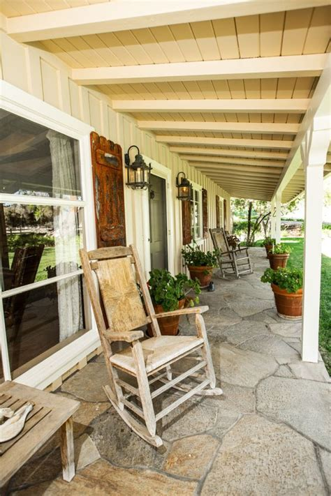 Front Porch Chair by Daffodil Dressed Patios Ideas And Inspiration
