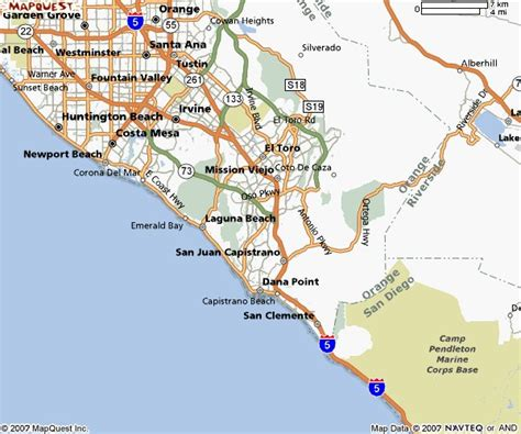 map of beaches in southern california southern california city maps orange county map