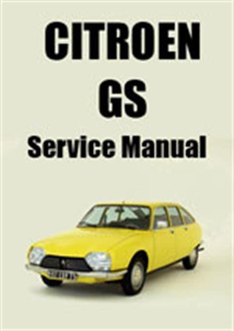 Citroen Gs Service Repair Manuals