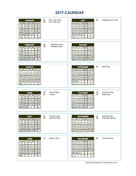 full year calendar vertical template  printable templates