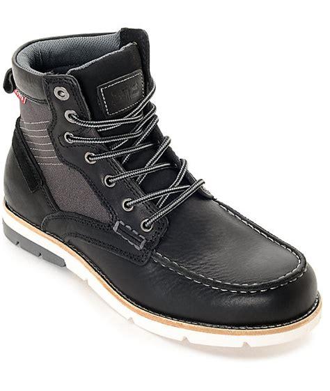 black levi boots levi s dawson black charcoal boots