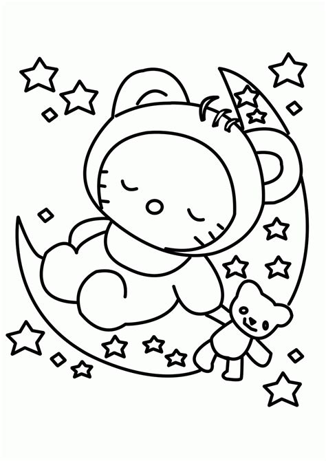 coloring pages hello kitty baby hello kitty babies team colors