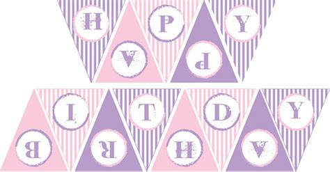 free printable birthday banner purple items similar to pink and purple happy birthday banner