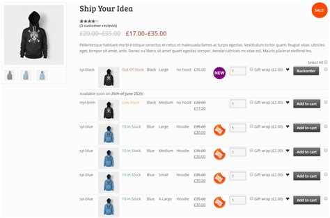 How Can You Add To Cart Multiple Variations At Once Woocommerce Product Listing Page Template