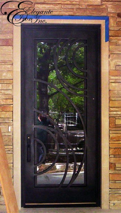 custom wrought iron front door wrought iron front door