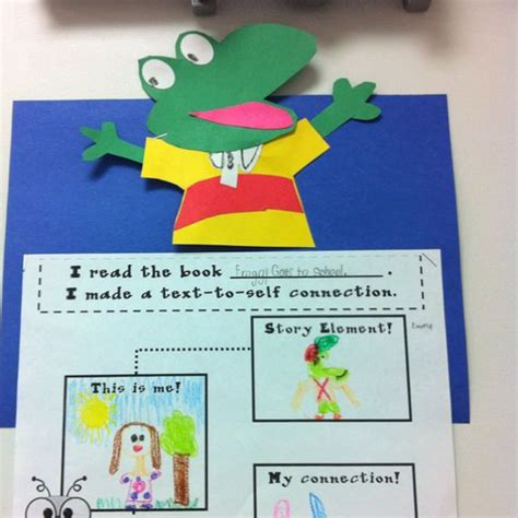 Froggy Goes To School we read froggy goes to school then we made text to self