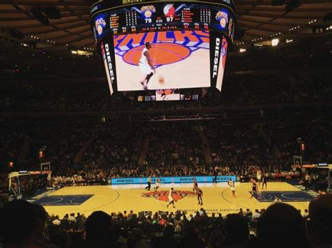 madison square garden section  row  home