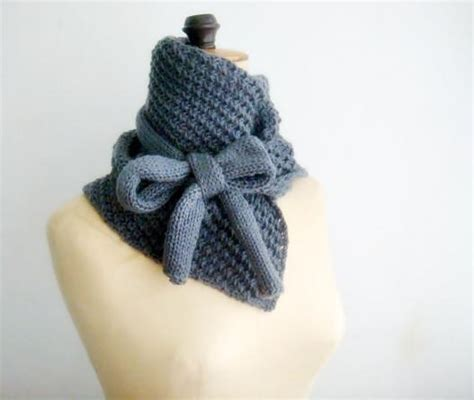 pattern knit cowl neck scarf knitted cowl bow neck warmer by fai craftsy