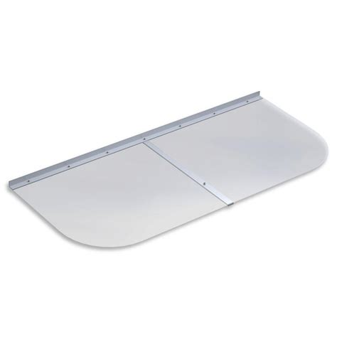 polycarbonate window well covers ultra protect 48 in x 21 in elongated clear