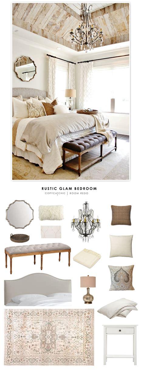 glam bedding copy cat chic room redo rustic glam bedroom copycatchic