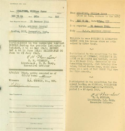 Us Navy Records Wwii Era Navy Service Records An Overview My