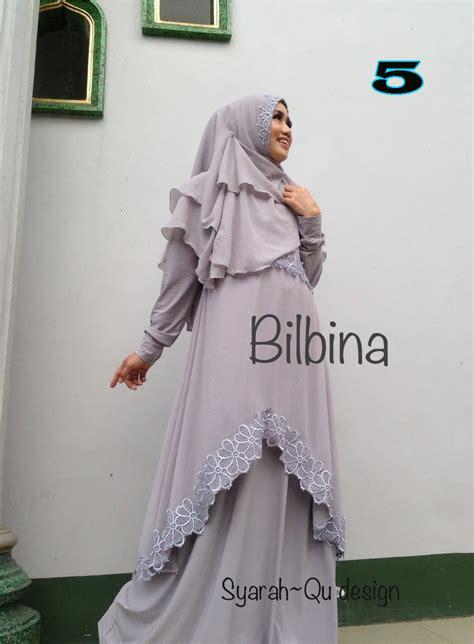 Terlaris Gamis Syari Hasna Brown Baju Muslim Modern bilbina 5 baju muslim gamis modern