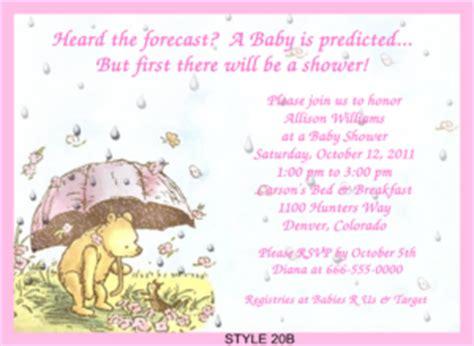 Classic Winnie The Pooh Baby Shower Invitations Printable by Classic Pooh Baby Shower Invitations Ebay