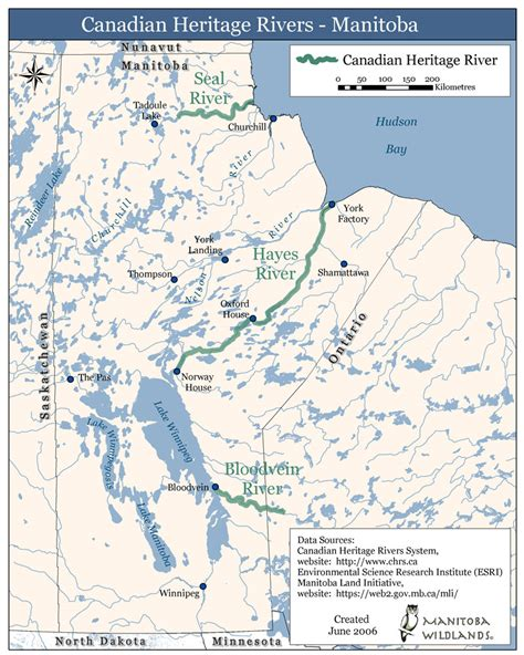 canadian heritage map canadian heritage rivers manitoba map river