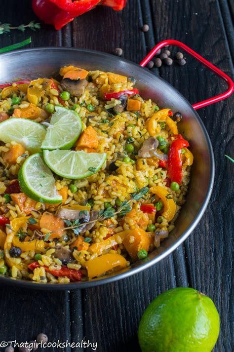 vegan paella caribbean paella  girl cooks healthy