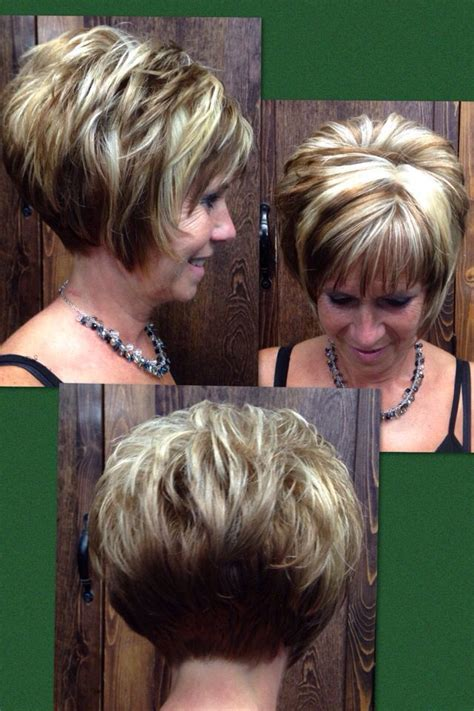 stacked shaggy haircuts fall hilites stacked bob chunk asymmet hair cuts