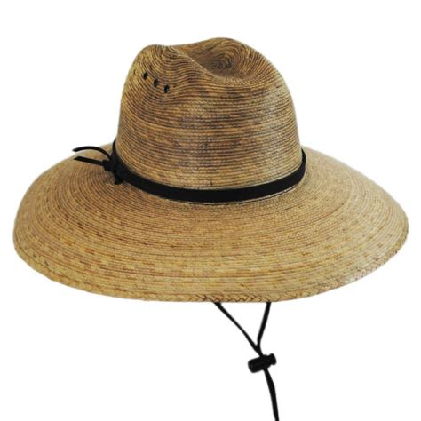 Hat For jeanne simmons palm leaf straw lifeguard hat straw hats