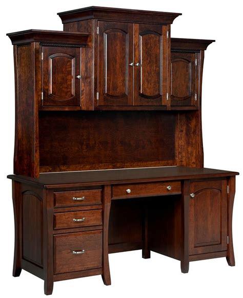 Amish Executive Desk by Amish Berkley Executive Desk With Option Hutch