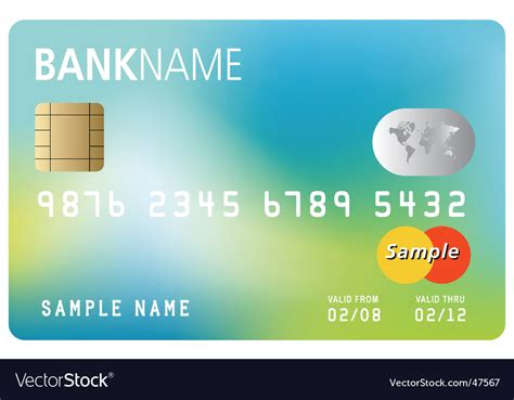 visa card template printable credit card template royalty free vector image
