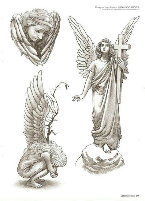 religious angel tattoo designs best 25 ideas on