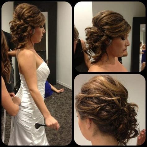 hairstyles for evening reception bridal updo to the side great for the reception so you